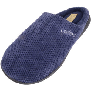 Slip On Micro Suede Mule Slippers - Navy