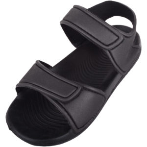 Summer Sandals with Ripper Fastening - Black