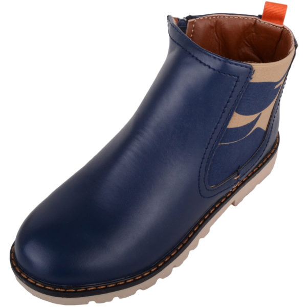 Casual Chelsea Ankle Boots - Navy