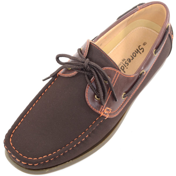 Smart Lace Up Boat / Deck Shoes - Brown