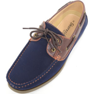 Smart Lace Up Boat / Deck Shoes - Navy