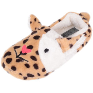 Slip On Dog Design Slipper - Natural