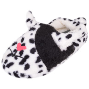 Slip On Dog Design Slipper - White