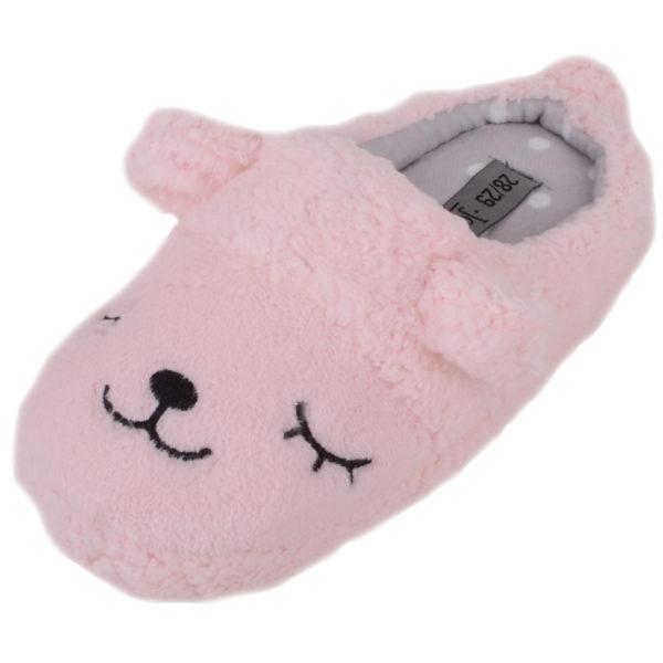 Faux Fur Animal Design Slippers - Pink