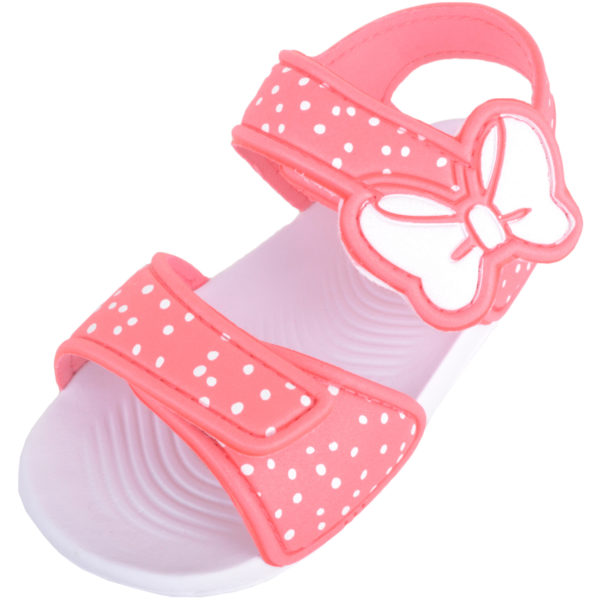 Summer Sandals with Bow Design - Coral
