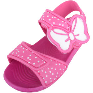 Summer Sandals with Bow Design - Pink