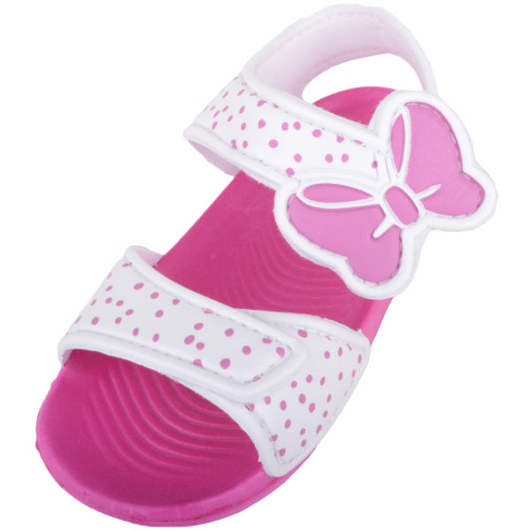Summer Sandals with Bow Design - White