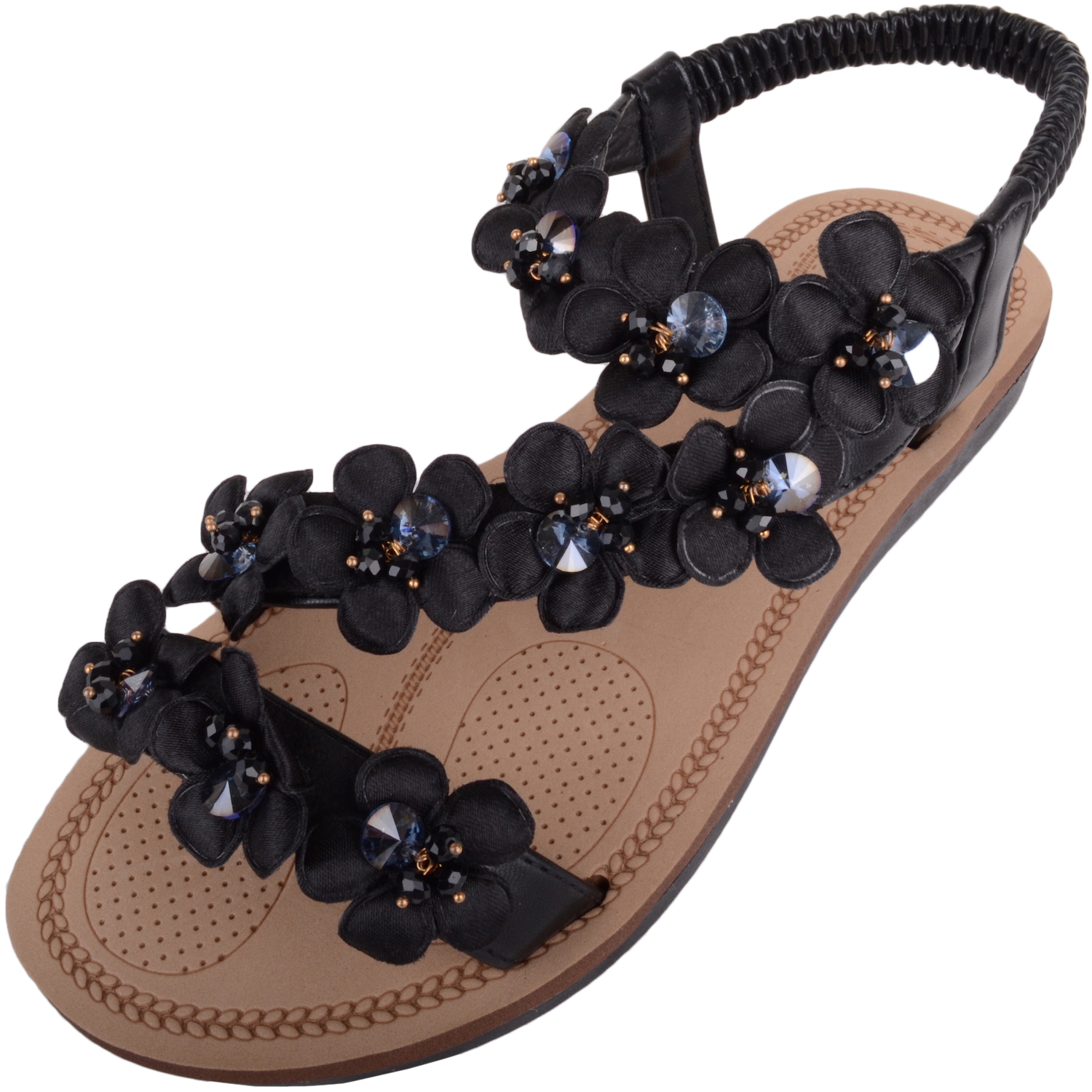 657105d4cd Ladies Holiday / Summer Sandals Diamante Floral Design
