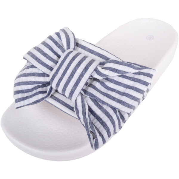 Slip On Mule Sandals / Sliders - Navy