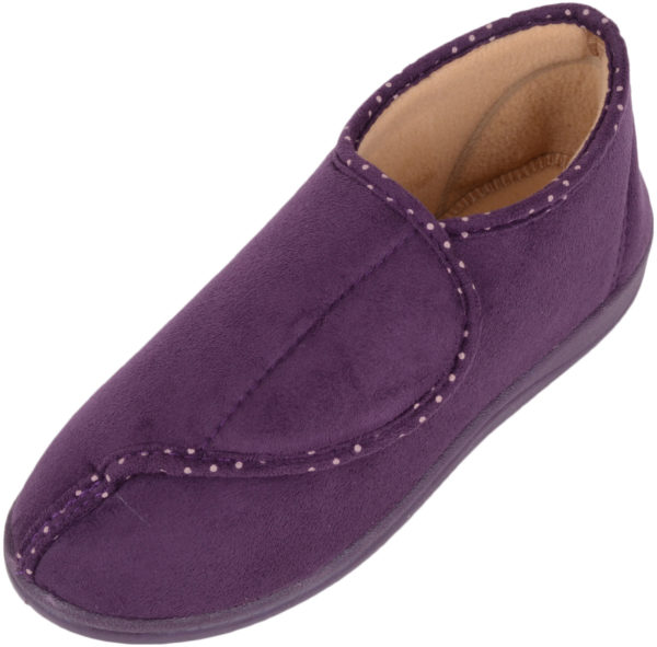Dr Lightfoot Memory Foam Slippers - Purple
