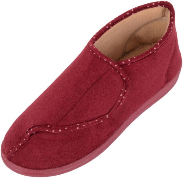 Dr Lightfoot Memory Foam Slippers - Red