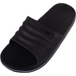 Slip On Summer Holiday Flip Flops - Black
