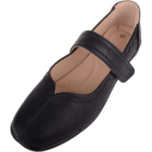 Light Weight Wide Fitting Casual Shoes - Black