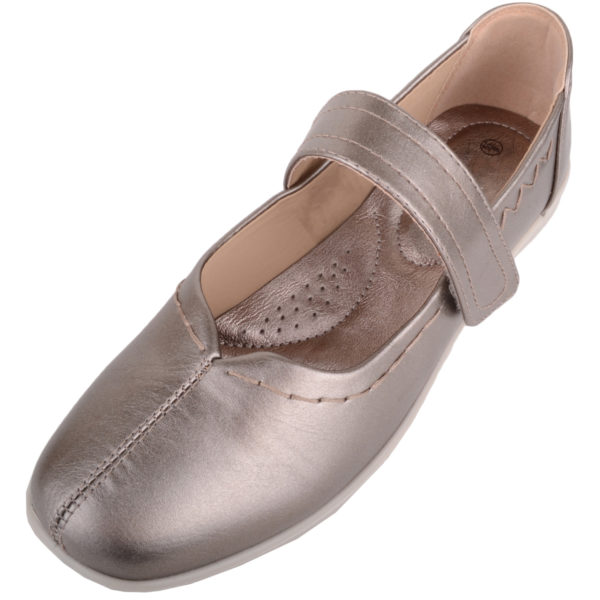 Light Weight Wide Fitting Casual Shoes - Rose Gold