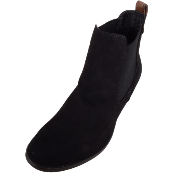 Smart Suede Ankle Chelsea Boots - Black