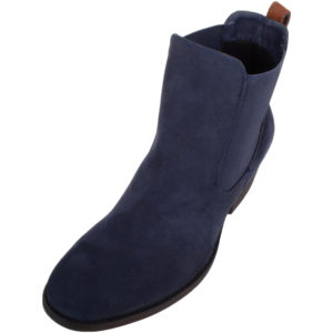 Smart Suede Ankle Chelsea Boots - Navy