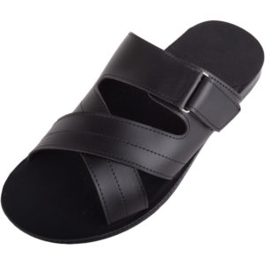 Men's Faux Leather Slip On Summer Sandals / Mules