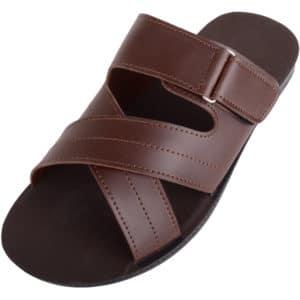 Men's Faux Leather Slip On Summer Sandals / Mules