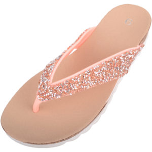 Women's Slip On Jewel Encrusted Flip Flops / Sandals