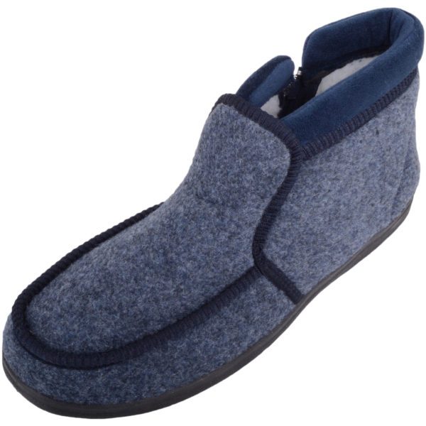 Men's Soft Felt EE Wide Fitting Slippers