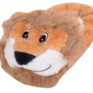 Boy's Faux Fur Bootie Slipper with Lion Design