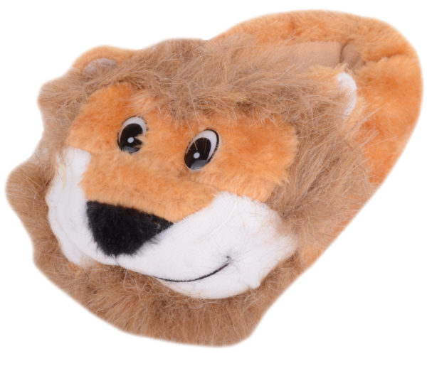Boy's Faux Fur Bootie Slipper with Lion Design