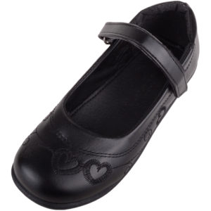Children's / Girls Casual School Shoes with Heart Design