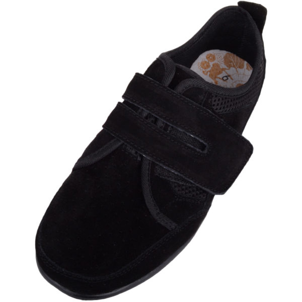 Ladies Casual Leather Wide Fitting Trainer / Shoes