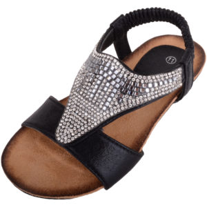 Girl's Slip On Summer Diamante Sandals / Shoes