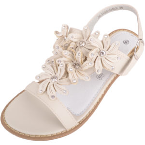 Children's Diamante Floral Sandals / Shoes