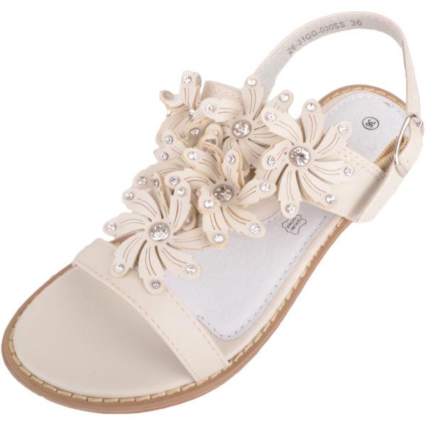 Children's Diamante Floral Sandals / Shoes