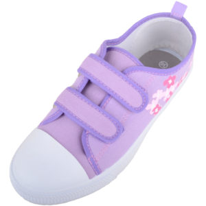 Children's Slip On Canvas Shoes with Ripper Fastening