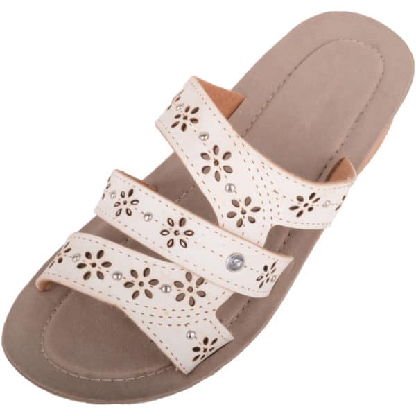 Ladies Slip On Summer Floral Sandals / Shoes