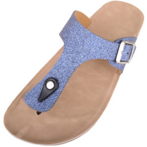 Ladies Casual Glitter Slip On Summer Sandals / Flip Flops