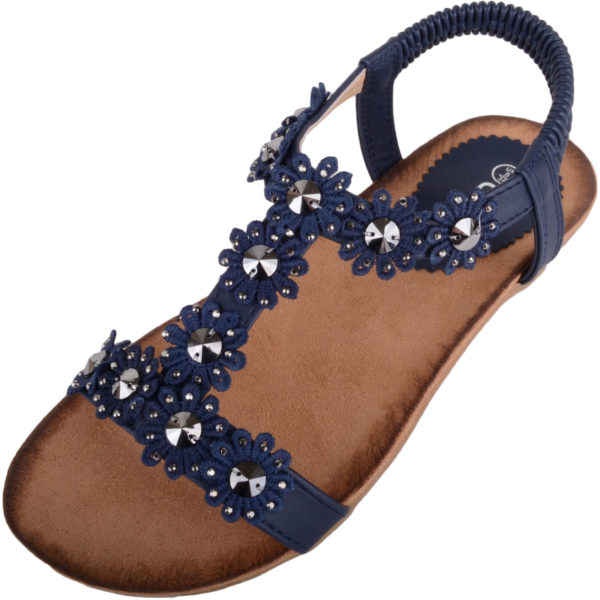 Womens Summer Slip On Sandals / Shoes with Floral Design