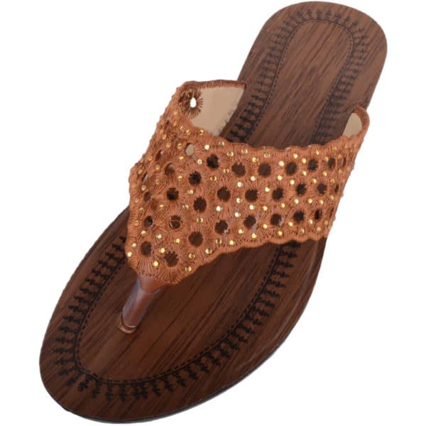 Ladies Slip On Summer Sandals with Toe Posts