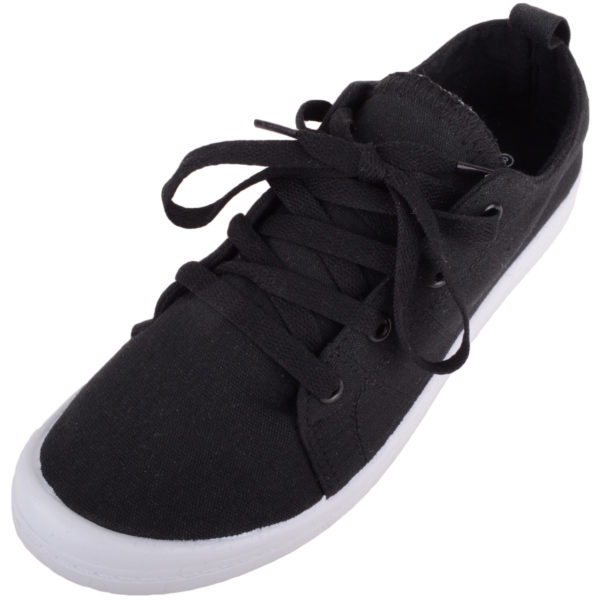 Women's Casual Lace Up Slip On Canvas Summer Trainers
