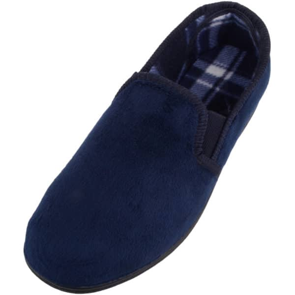 Men's Velour Style Slippers / Shoes with Twin Gusset