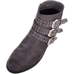 Ladies Chelsea Suede Boots / Shoes with 3 Studded Strap Design