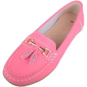 Ladies Slip On Casual Leather Loafer / Boat Shoes