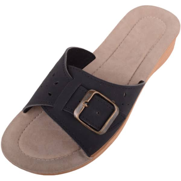 Ladies Slip On Holiday Wedge Sandals / Shoes