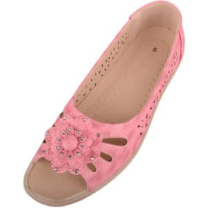 Ladies Summer / Peep Toe Sandals / Shoes with Floral Design