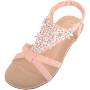 Ladies Floral Diamante Summer Sandals / Shoes