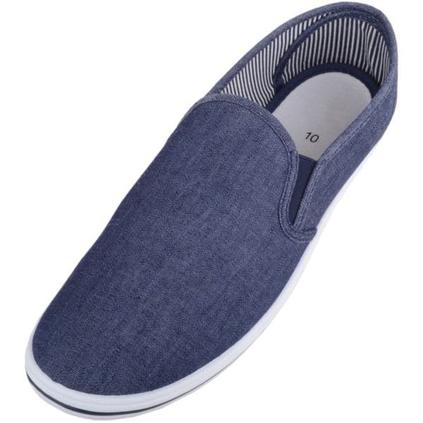 Men's Casual Slip On Canvas Summer Trainers / Plimsolls