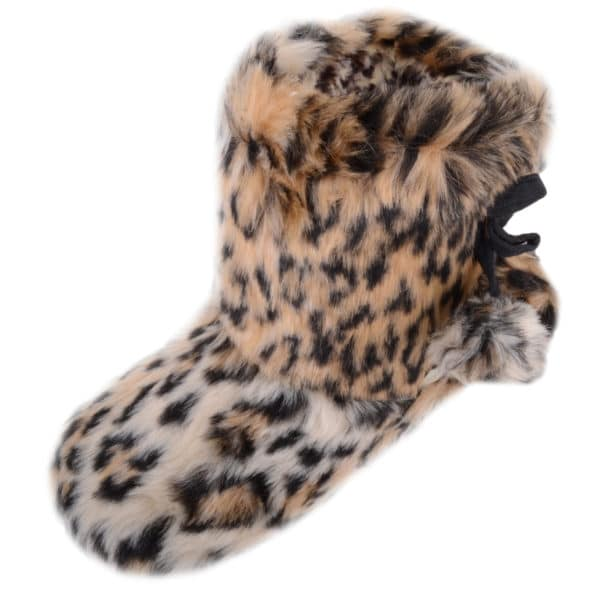 Children's Slip On Boots / Slippers with Animal Print Design