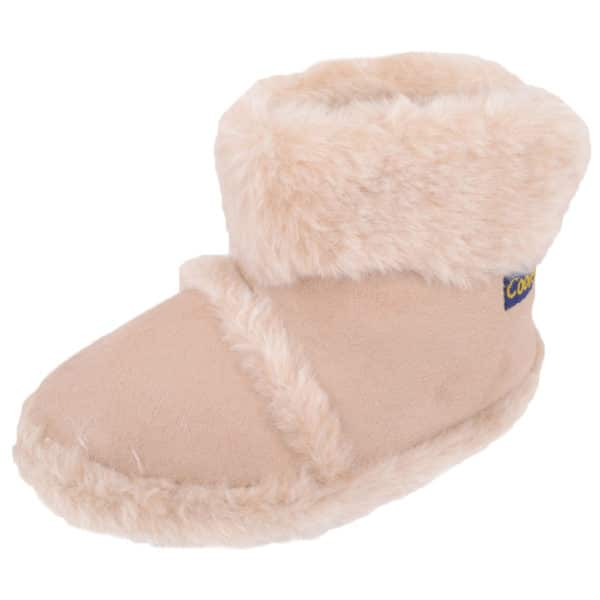Children's Slip On Booties / Slippers with Faux Fur Lining