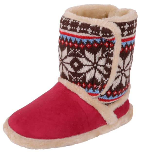 Women's Slip On Slippers / Booties with Warm Faux Fur Inners