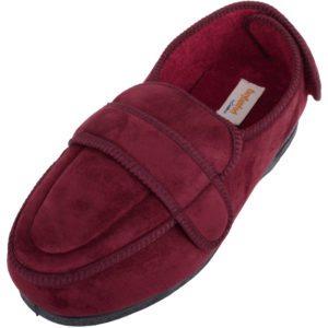 Women's Orthopaedic EEE Wide Fit Slippers with Adjustable Strap