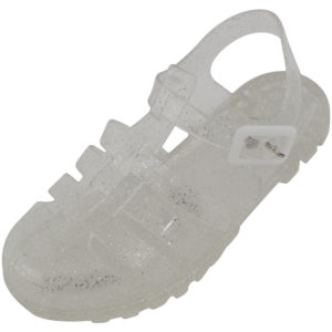 Children's Glittery Summer Jelly Shoes