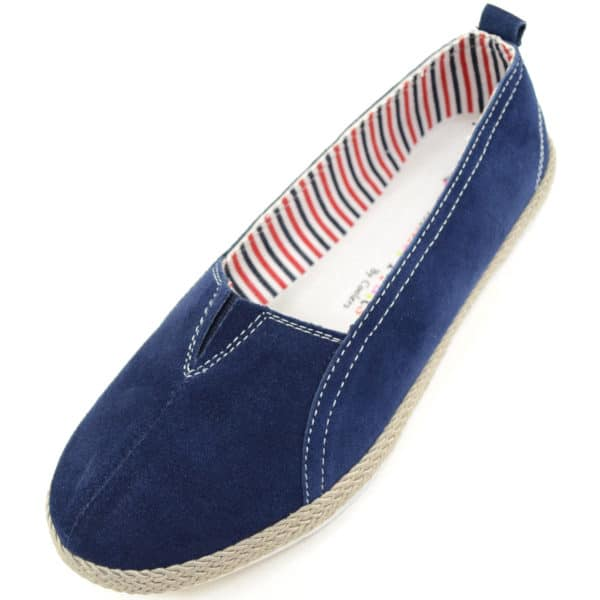Womens Real Leather Suede Slip On Summer / Holiday / Casual Shoes